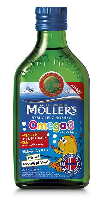 Zobrazit detail výrobku Möller´s Möller`s rybí olej z tresčích jater z Norska s přírodní ovocnou příchutí 250 ml - SLEVA - poškozená etiketa