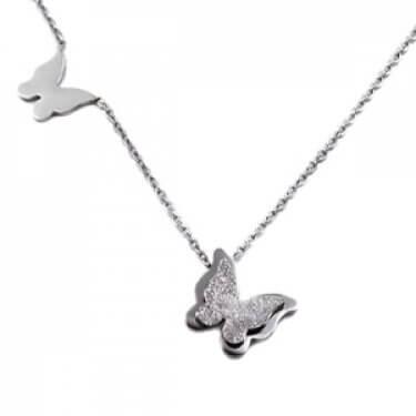 Troli - Ocelový motýlí náhrdelník Metal Butterfly