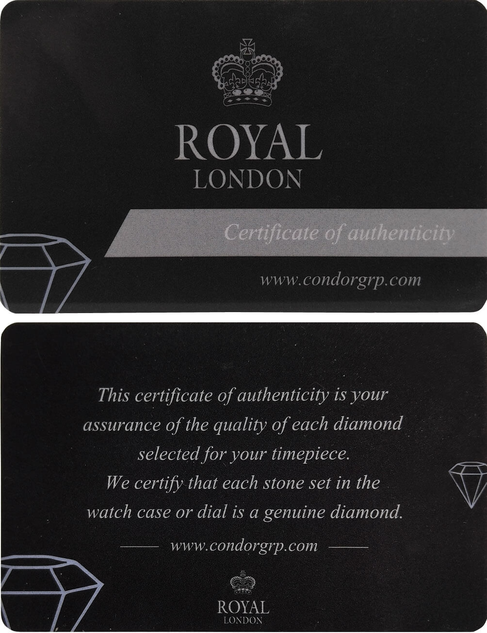 Royal London certifikát diamanty