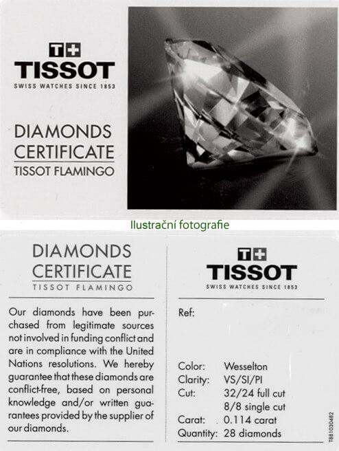 Tissot certifikát diamanty