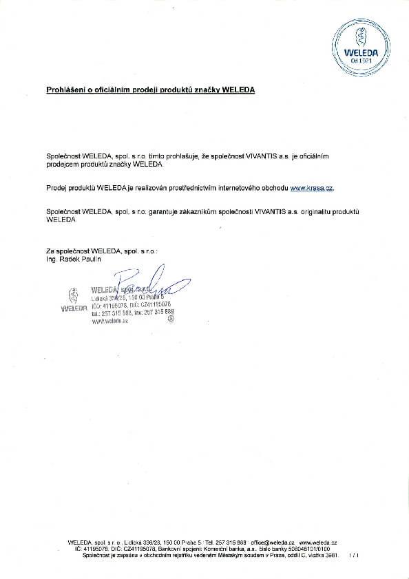 Prohlášení o autorizovaném prodeji