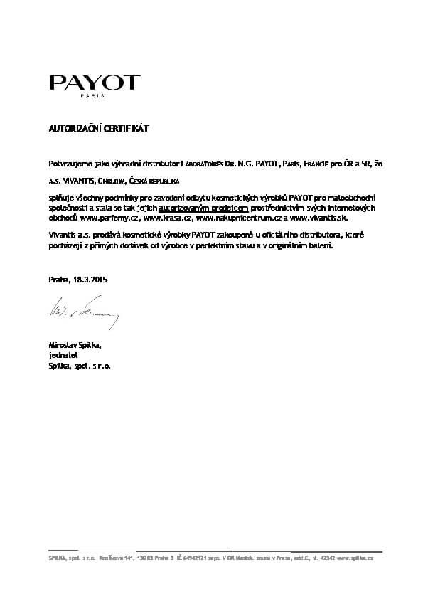 Autorizační certifikát