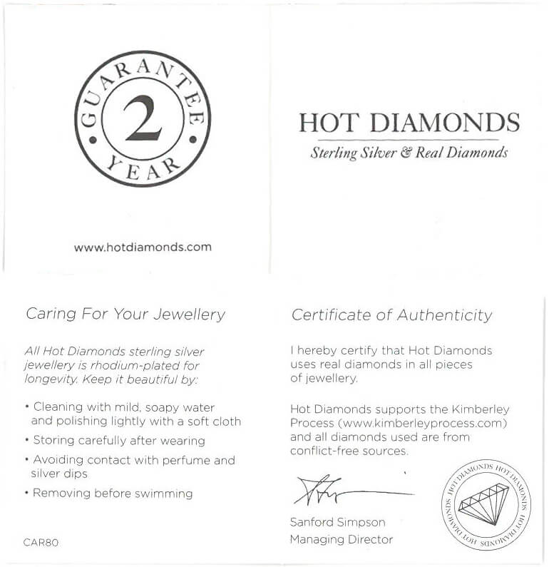 Certifikát Hot Diamonds