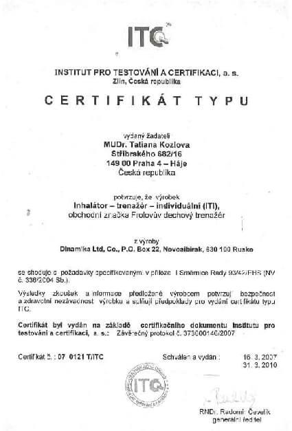 Certifikát o zdravotní nezávadnosti