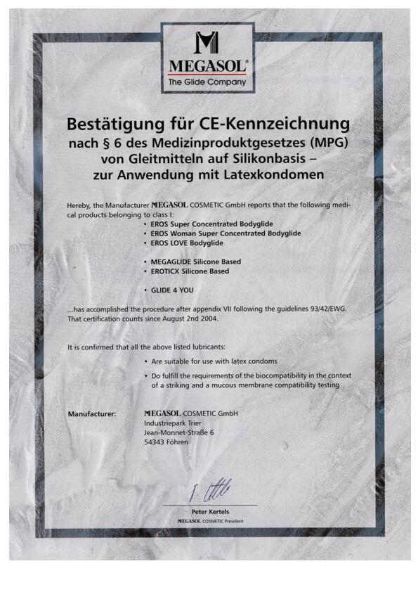 Potvrzení o označení CE