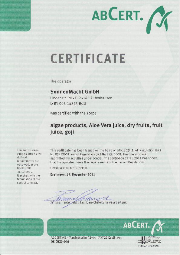 Certifikát ABCert
