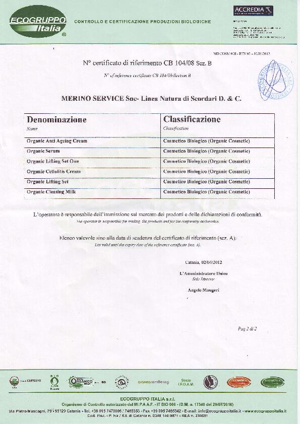 EcoGruppo Certificate - Merino Services