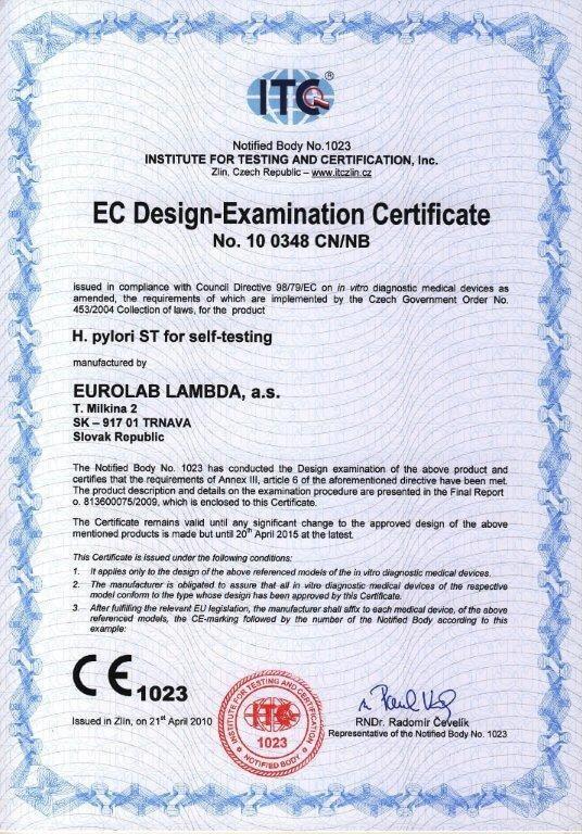 Certifikát ITC