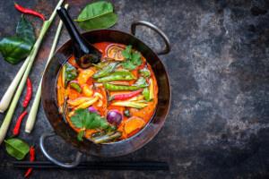 Vegan kari s pečenou zeleninou