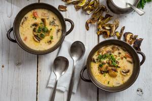 Polévka ze sušených hub
