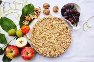 Jablečný RAW dort (8 porcí, dortová forma 22cm)