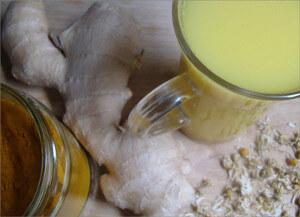 Heřmánkovo-kurkumový zázvorový čaj