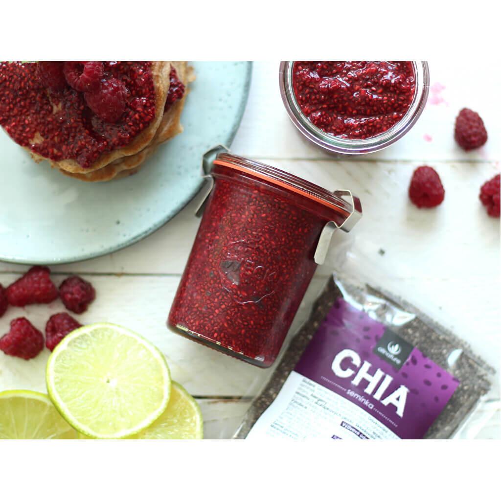 Chia marmeláda a rychlé lívanečky