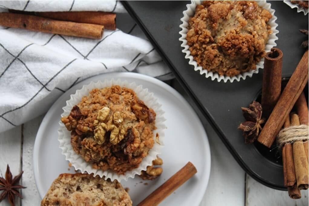 škoricové muffiny