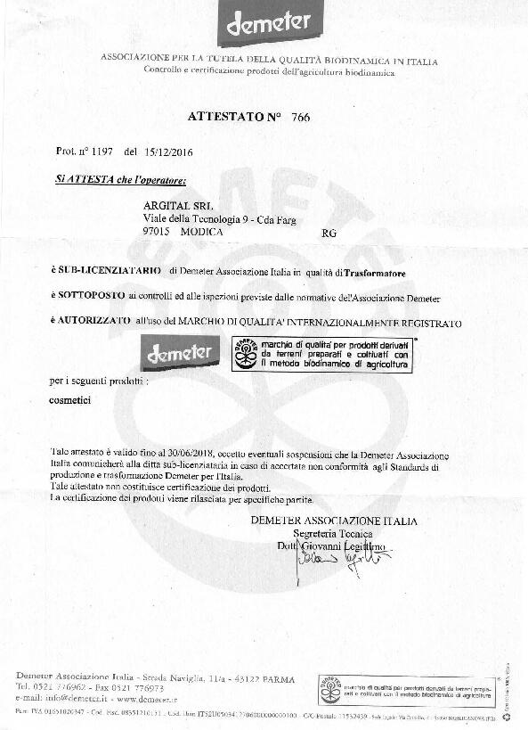 Certifikát Demeter