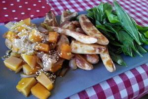 Pečená dýně s brambory a medvědím česnekem