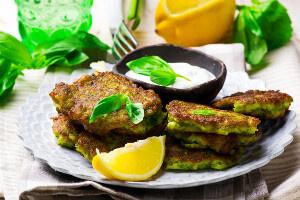 Batátový placky s brokolicou