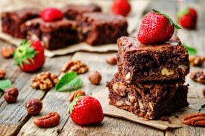 Fazuľové brownies s čokoládou