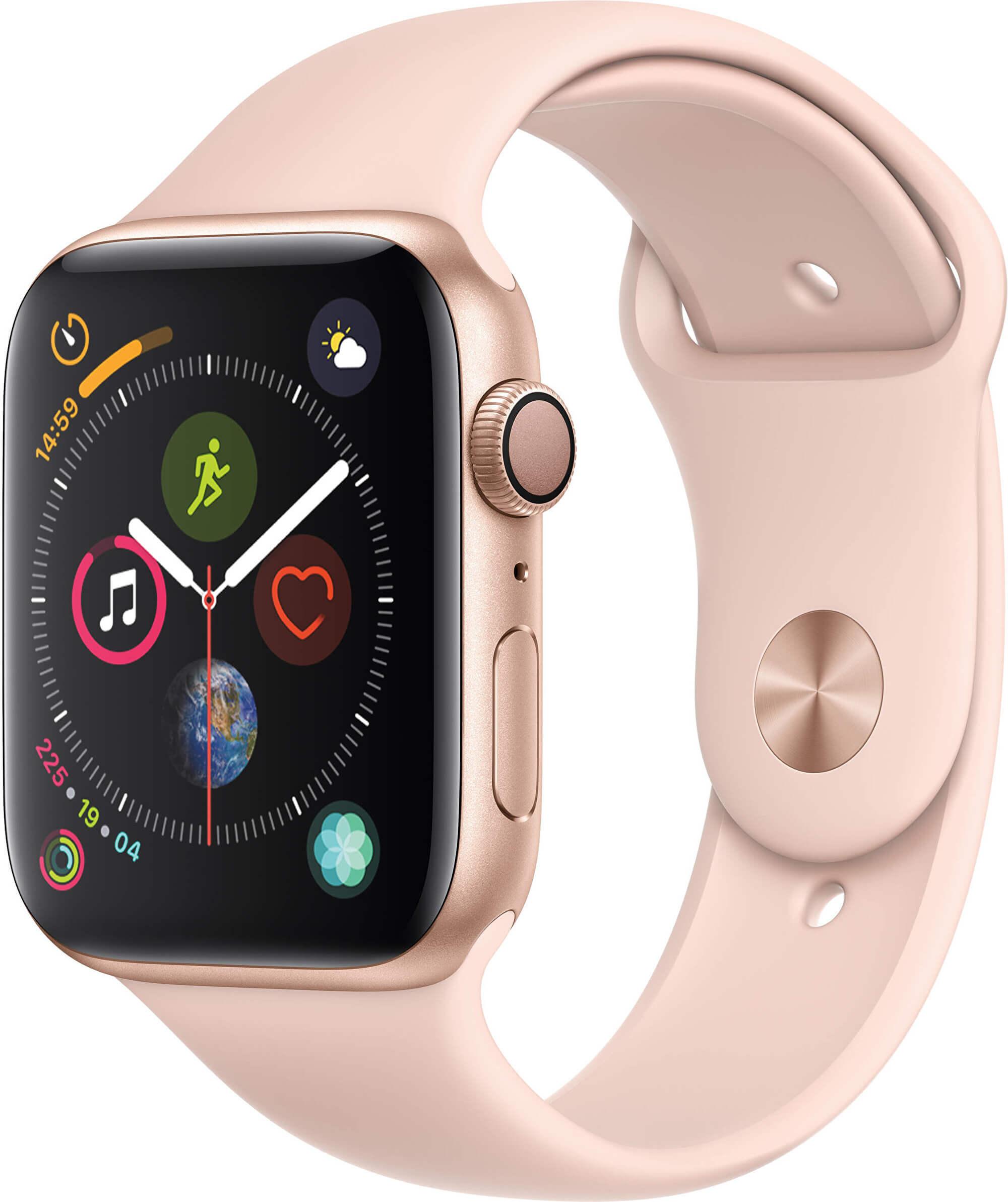 Apple Watch Series 4 44mm zlatý hliník s pískově růžovým sportovním řemínkem 2615440748