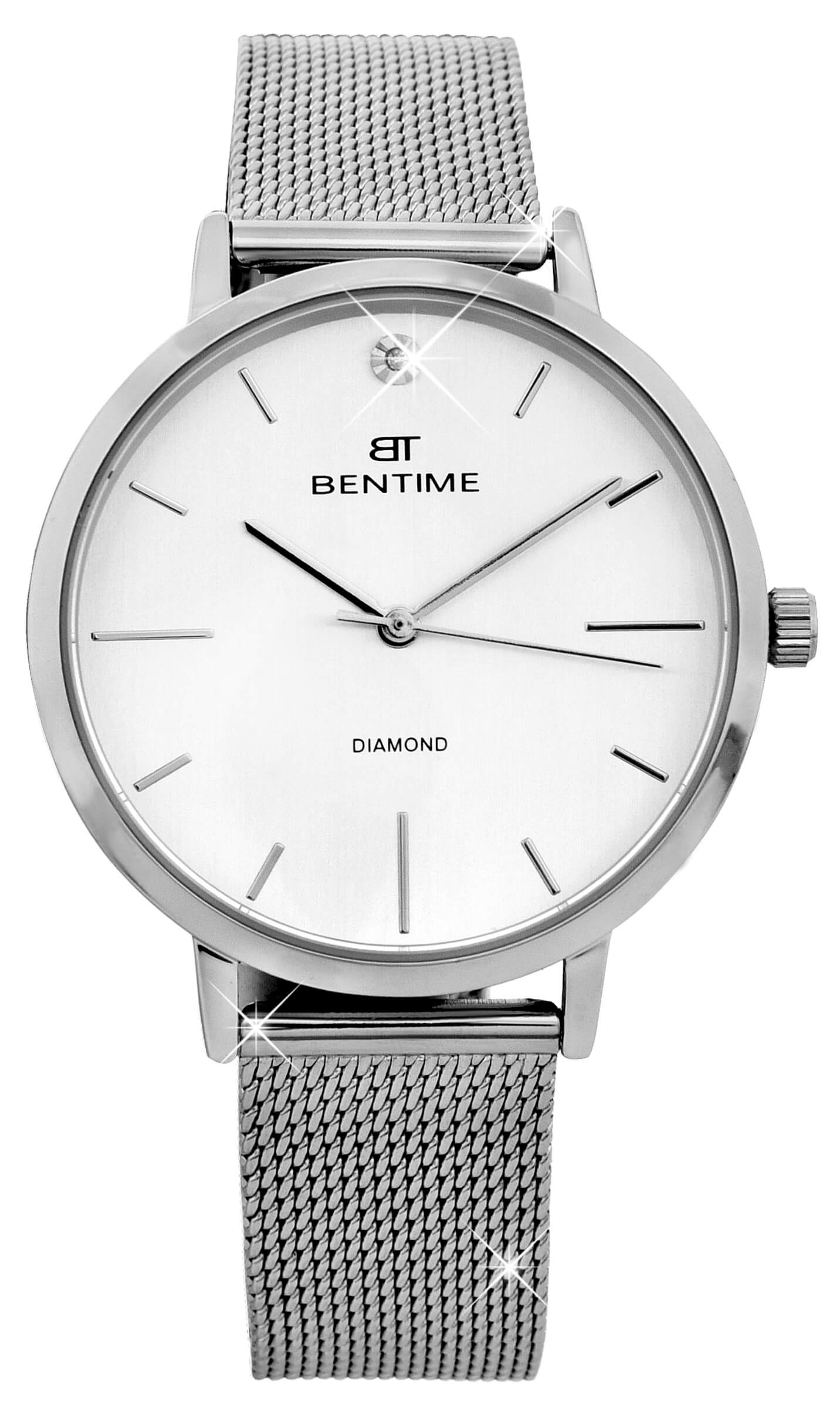 Bentime Dámské hodinky s diamantom 027-9MB-PT11894M  17d5dbed017