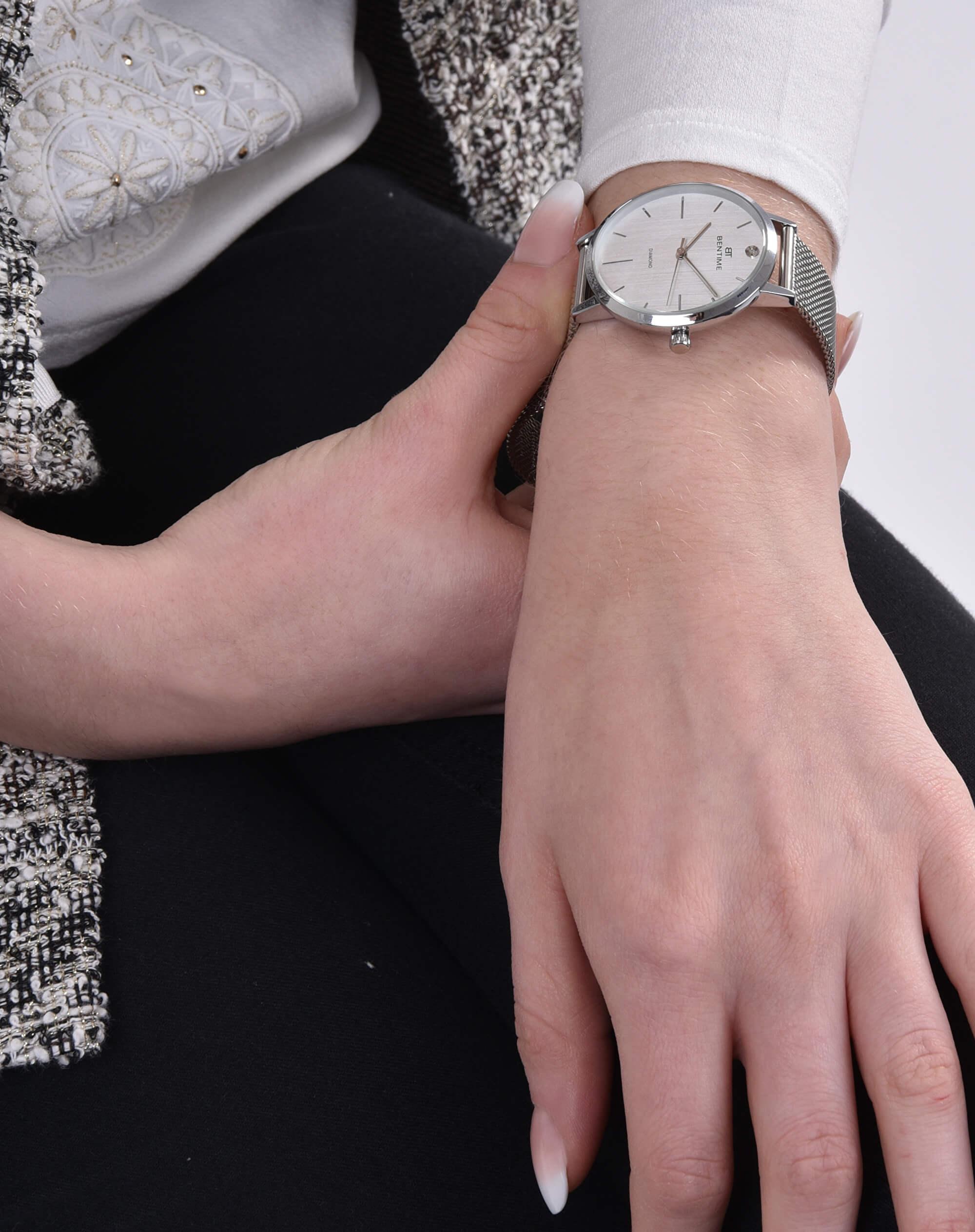 Bentime Dámské hodinky s diamantom 027-9MB-PT11894M  9b50dcd19c
