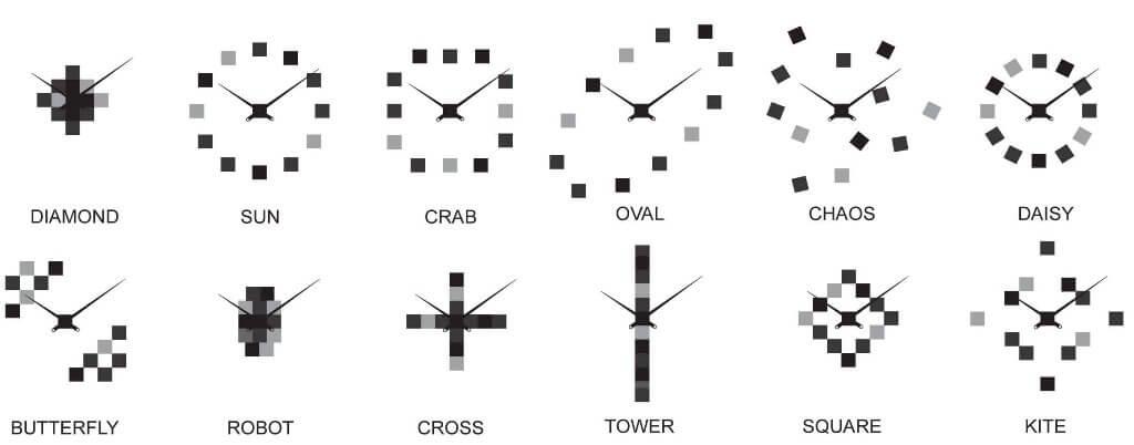 Future Time Nalepovací hodiny Cubic Black FT3000BK   p Inspirace pro  nalepení hodin.  p  379800c206e