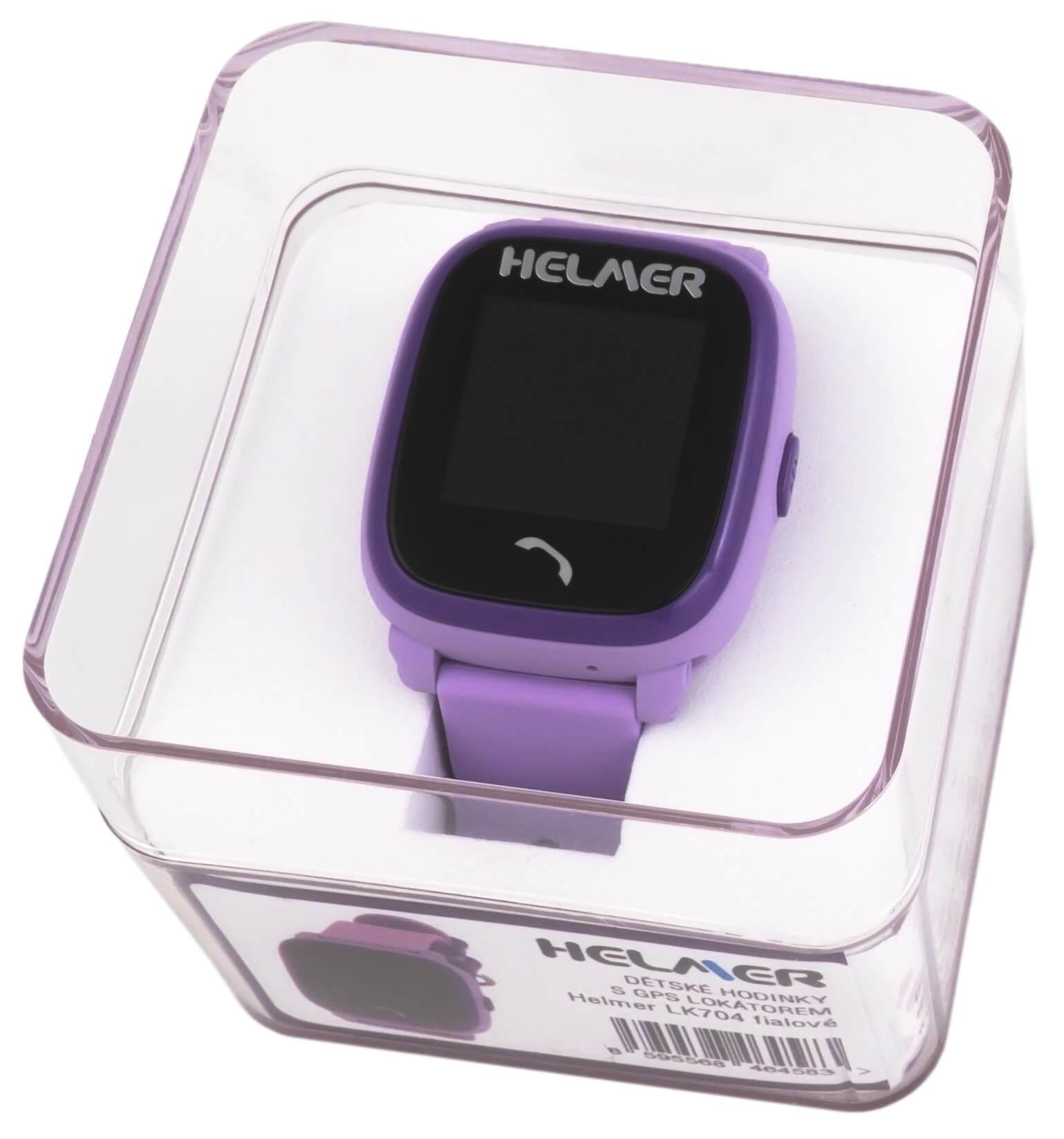 Helmer Chytré dotykové vodotěsné hodinky s GPS lokátorem LK 704 fialové e344ee4ea7