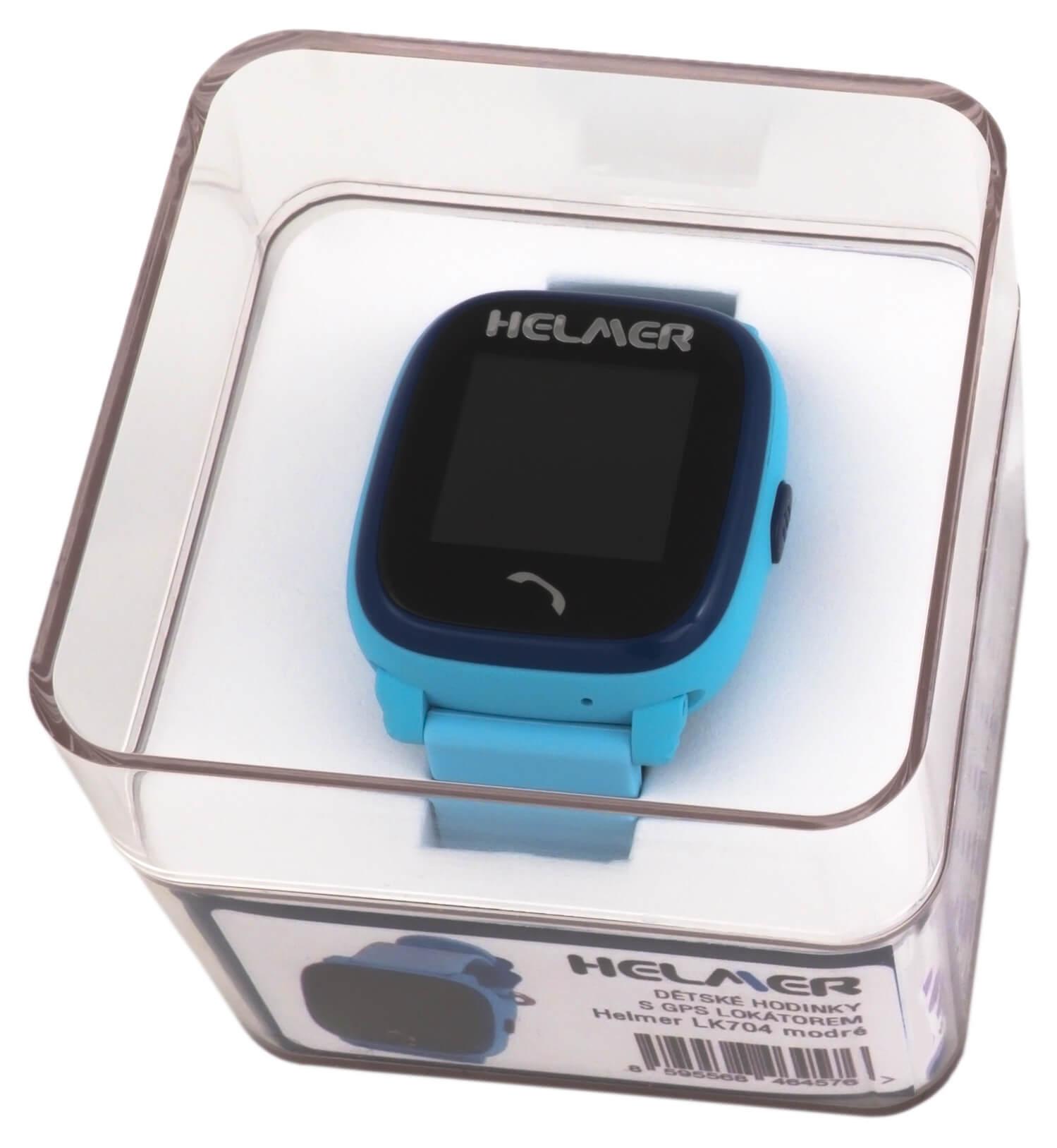 Helmer Chytré dotykové vodotěsné hodinky s GPS lokátorem LK 704 modré 3475d1df41