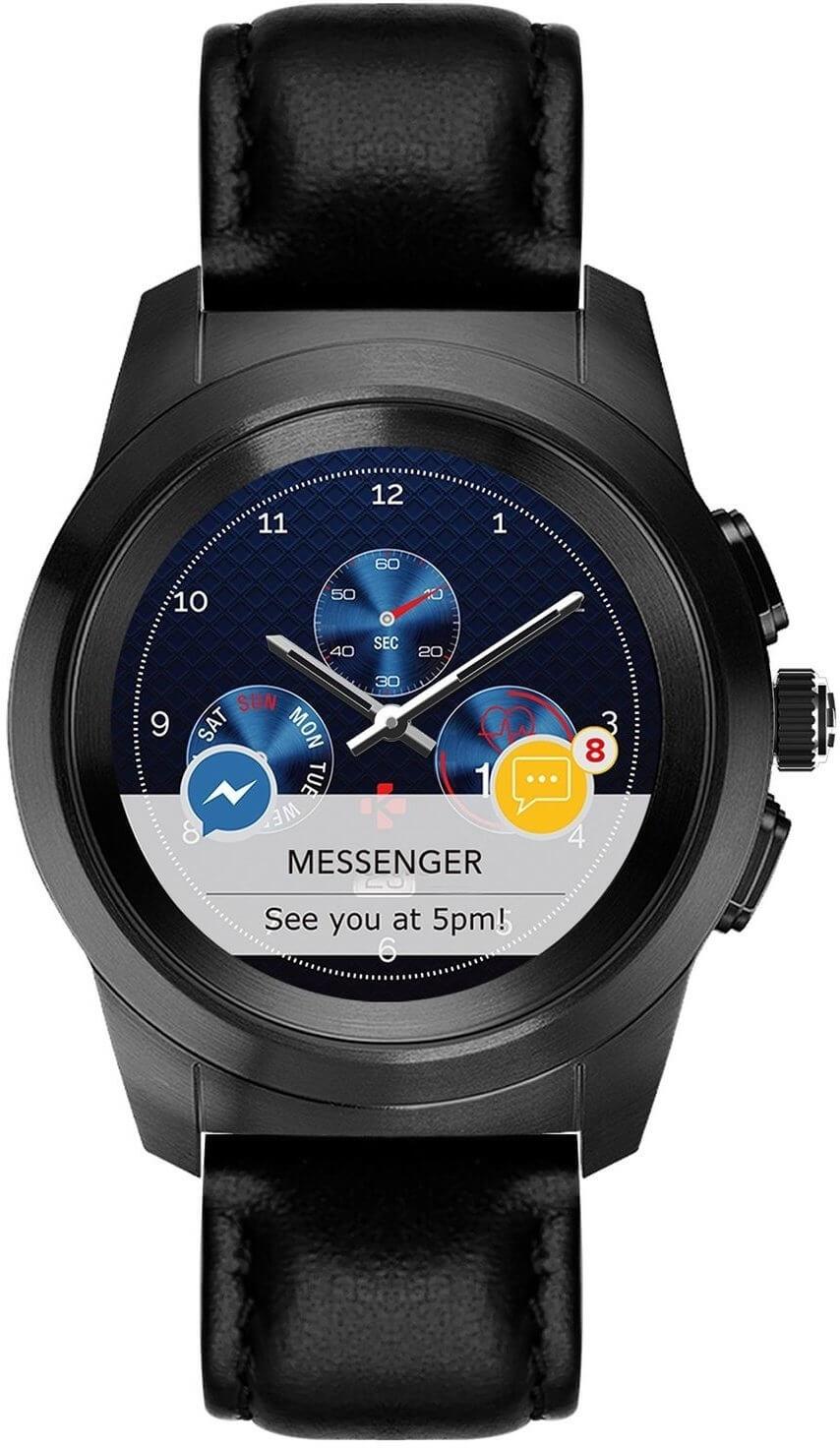 7d1154f4de MyKronoz Hybridní hodinky ZeTime Premium Black Black - 44 mm Doprava ...