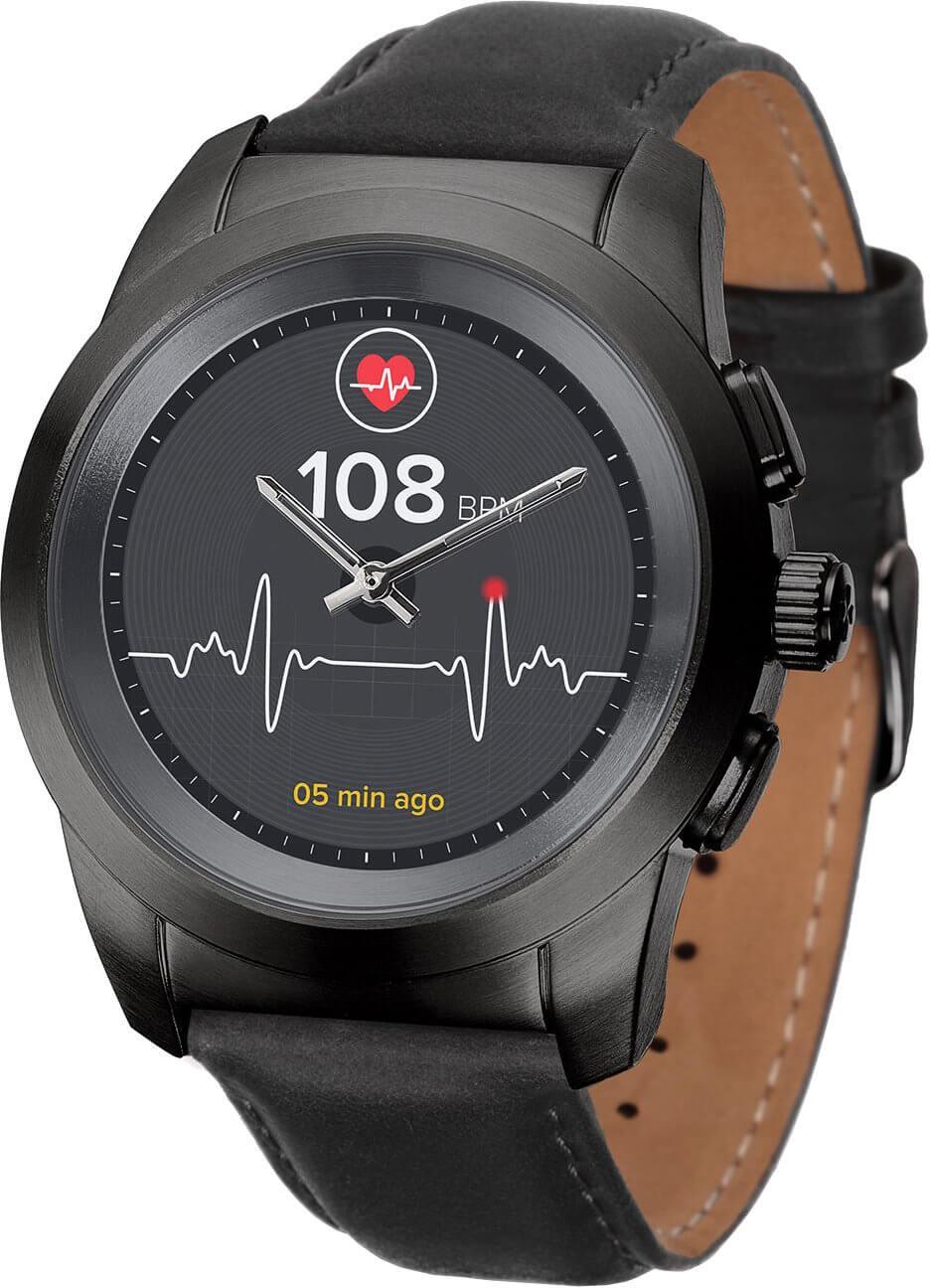 MyKronoz Hybridní hodinky ZeTime Premium Black Black - 44 mm Doprava ... 006729e3a52