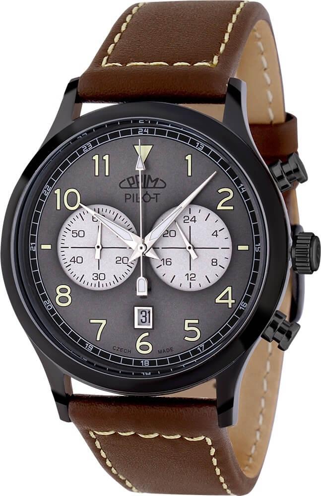 Prim Pilot Chronograph - D Doprava a roční pojištění hodinek ZDARMA ... f16d14810b