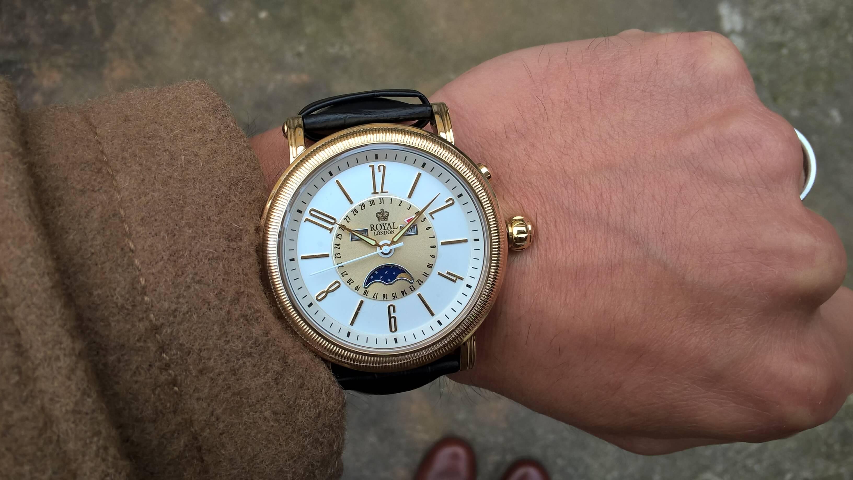 Royal London 41173-02 Pánské hodinky s fází měsíce Doprava ZDARMA ... 1df6a7ad3cd