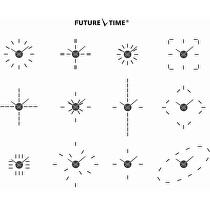 Future Time Nalepovací hodiny Modular White FT9400WH Doprava a 1 rok ... 1755ce96e19