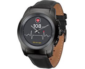 Hybridní hodinky ZeTime Premium Black/Black - 44 mm