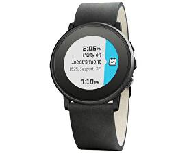 Pebble Time Steel Round Smartwatch černé 20 mm 0cb60ba062