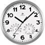 Nástěnné hodiny s teploměrem a vlhkoměrem 14931B