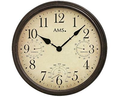 Nástěnné hodiny s teploměrem, barometrem a vlhkoměrem 9463