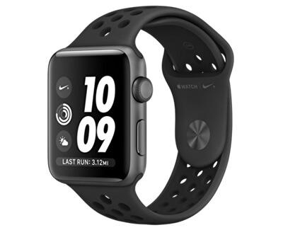 Watch Series 3 Nike+ 42mm vesmírně šedý hliník s antracitovým/černým Nike sportovním řemínkem