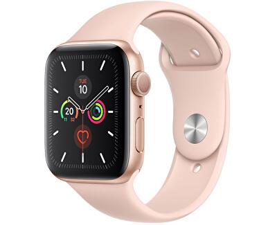 Watch Series 5 44mm zlatý hliník s pískově růžovým sportovním řemínkem