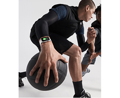 Watch Series 4 40mm stříbrný hliník s bílým provlékacím sportovním řemínkem - SLEVA
