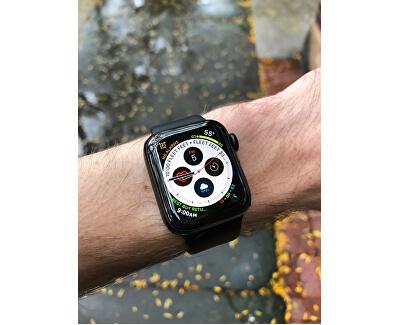 Watch Series 4 44mm vesmírně šedý hliník s černým provlékacím sportovním řemínkem - SLEVA