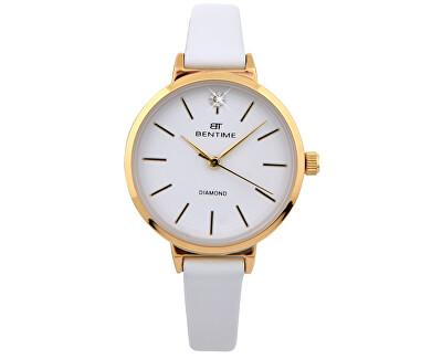Dámské hodinky s diamantem 027-9MB-PT12024B