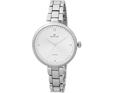 Dámské hodinky s diamantem 027-9MB-PT12103A