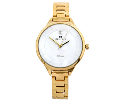 Dámské hodinky s diamantem 044-9MB-PT12102B