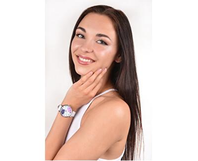 Dámské květinové hodinky 004-9MB-PT11894T