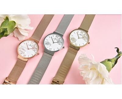 Dámské květinové hodinky 007-9MB-PT12084E