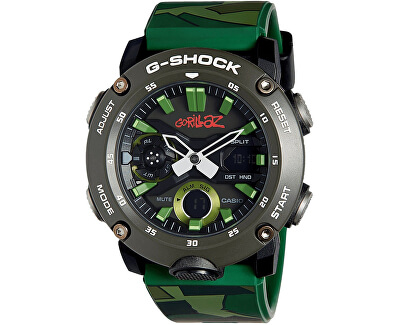 G-Shock Carbon Core Guard Gorillaz Limited Edition GA-2000GZ-3AER (633) - Dárkový set