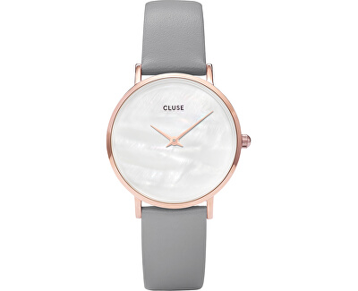 MinuitLaPerle Rose Gold White Pearl/Stone Grey CL30049