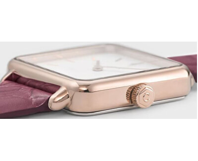 La Tétragone Rose Gold White/Soft Berry Alligator CL60020