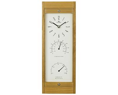 Nástěnné hodiny s teploměrem a vlhkoměrem WFW001LB